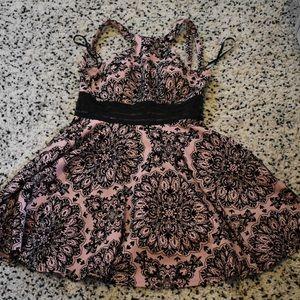 Dresses & Skirts - Pink dress with cute black mandala designs